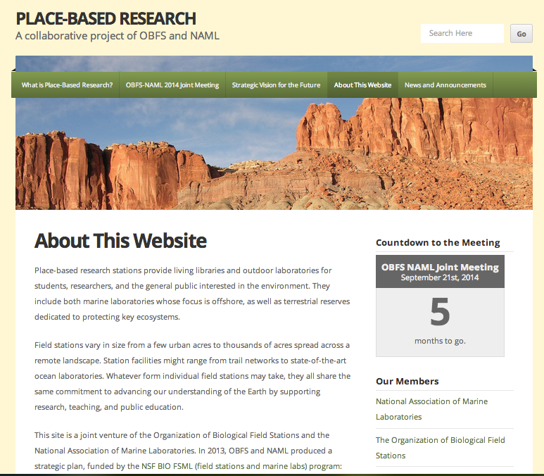 Place Based Research Internal page