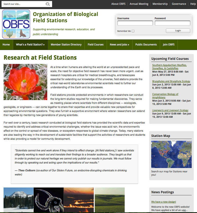 Content Page for OBFS 2013 redesign