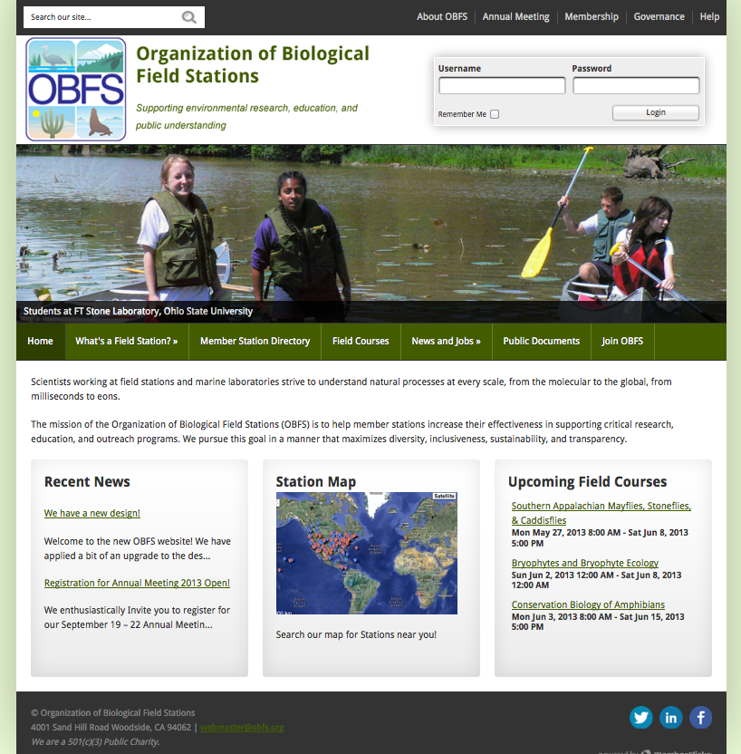 New OBFS 2013 Home Page