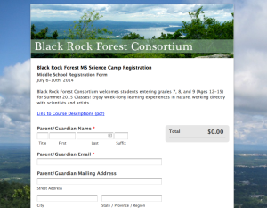 Black Rock Forest Consortium Summer Camp Registration