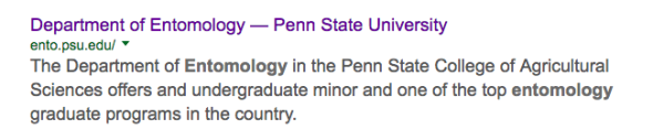 penn state entomology search results