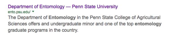 penn state entomology search results