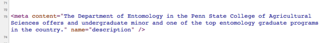 metadata code
